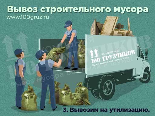 Вывоз строительного мусора на машине Газель